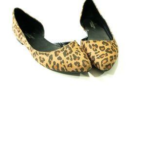 AEO leopard print cutout pointed flats